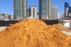 300 tons of sand on a downtown pier